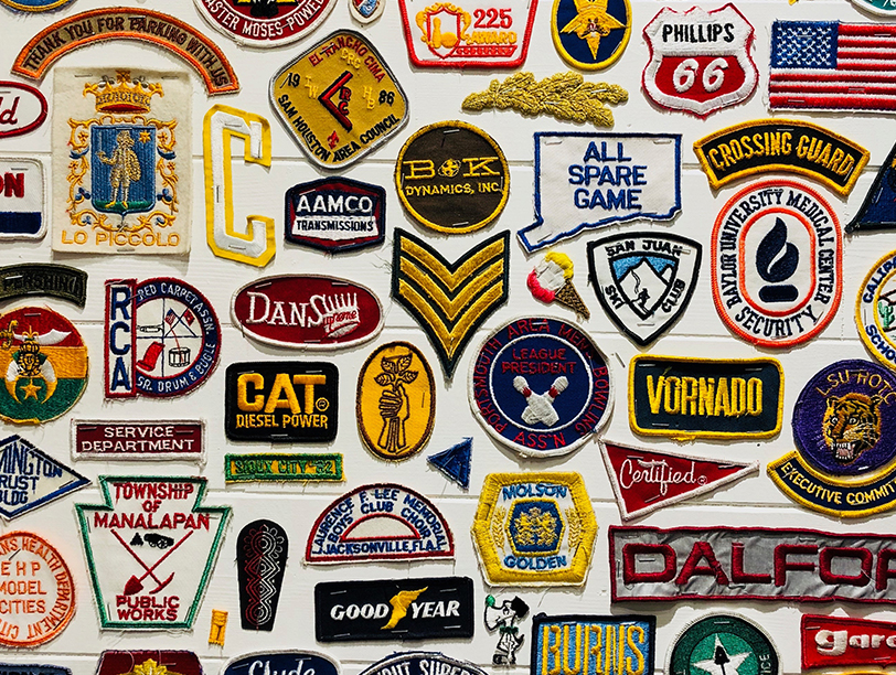 Display of branded patches