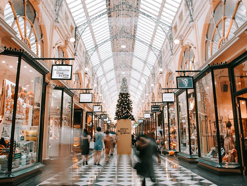 Upscale shopping arcade