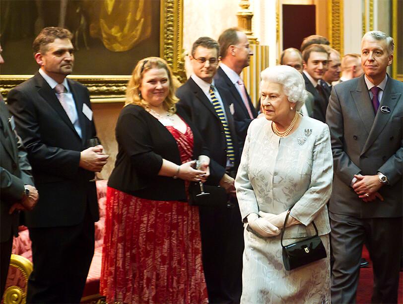 Queen Elizabeth at the Queen's Awards.