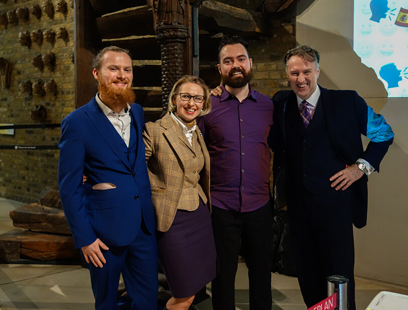 Jurga Zilinskiene, David Clarke, Adam Bradshaw and Keith Broni of Guildhawk at the V&A