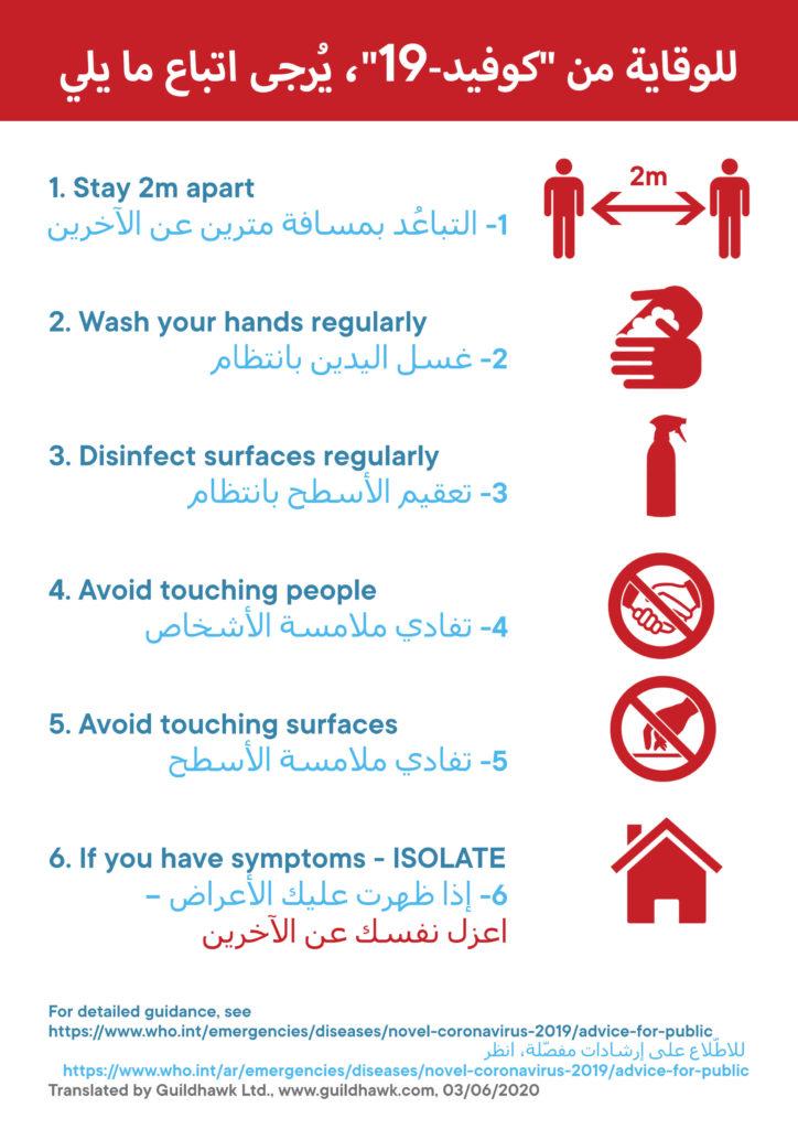 COVID Workplace Guidance Arabic