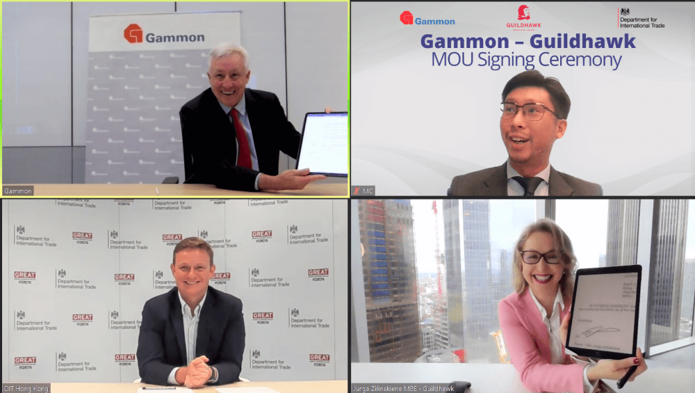 Gammon Construction and Guildhawk sign MOUGuildhawk Voice Multilingual Avatar Machine Translation Safe Smart Cities Gammon Hong Kong Digital Transformation